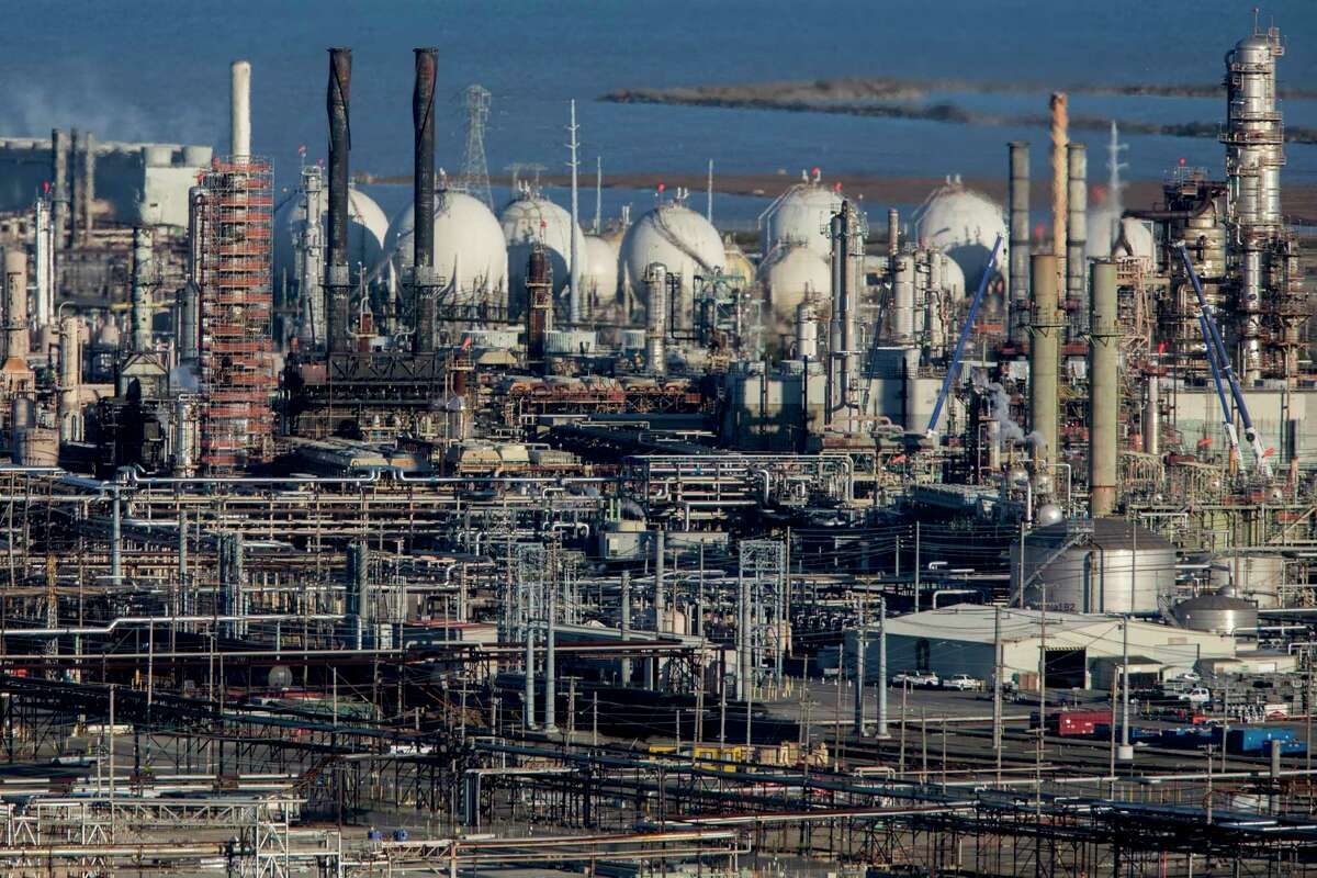 This file photo shows the Chevron Richmond Refinery as seen in Richmond, Calif. on Tuesday, Feb. 4, 2020.