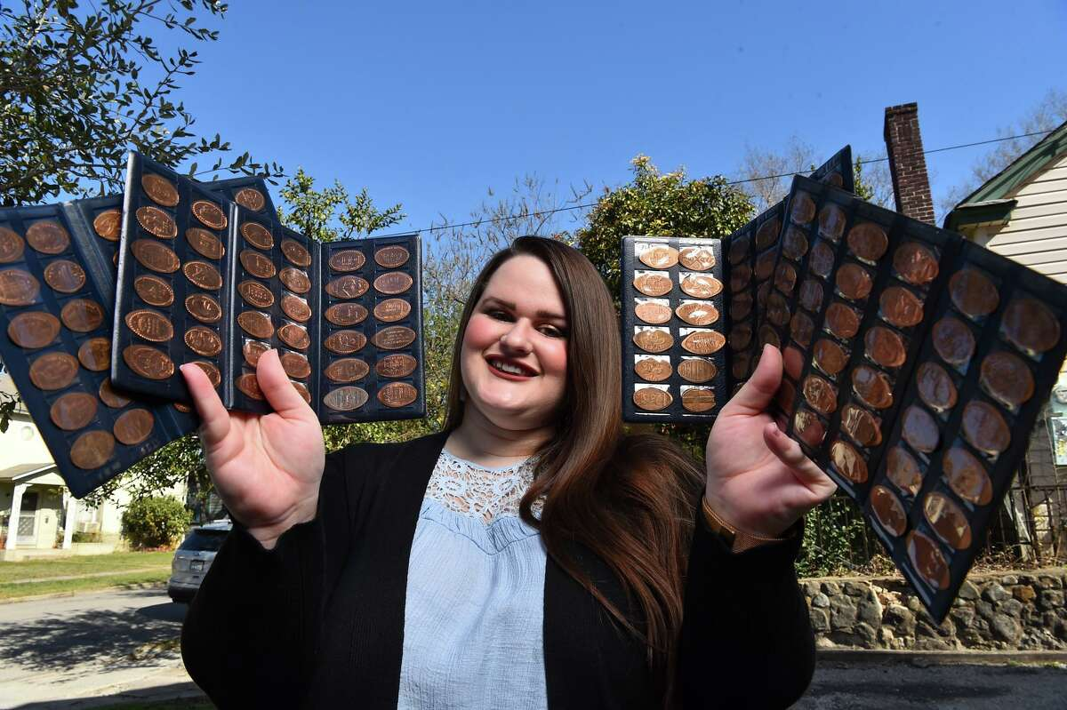 Brandy Gaskins has an unusual hobby: Since she was 8 years old, she has collected pressed pennies from around the world.