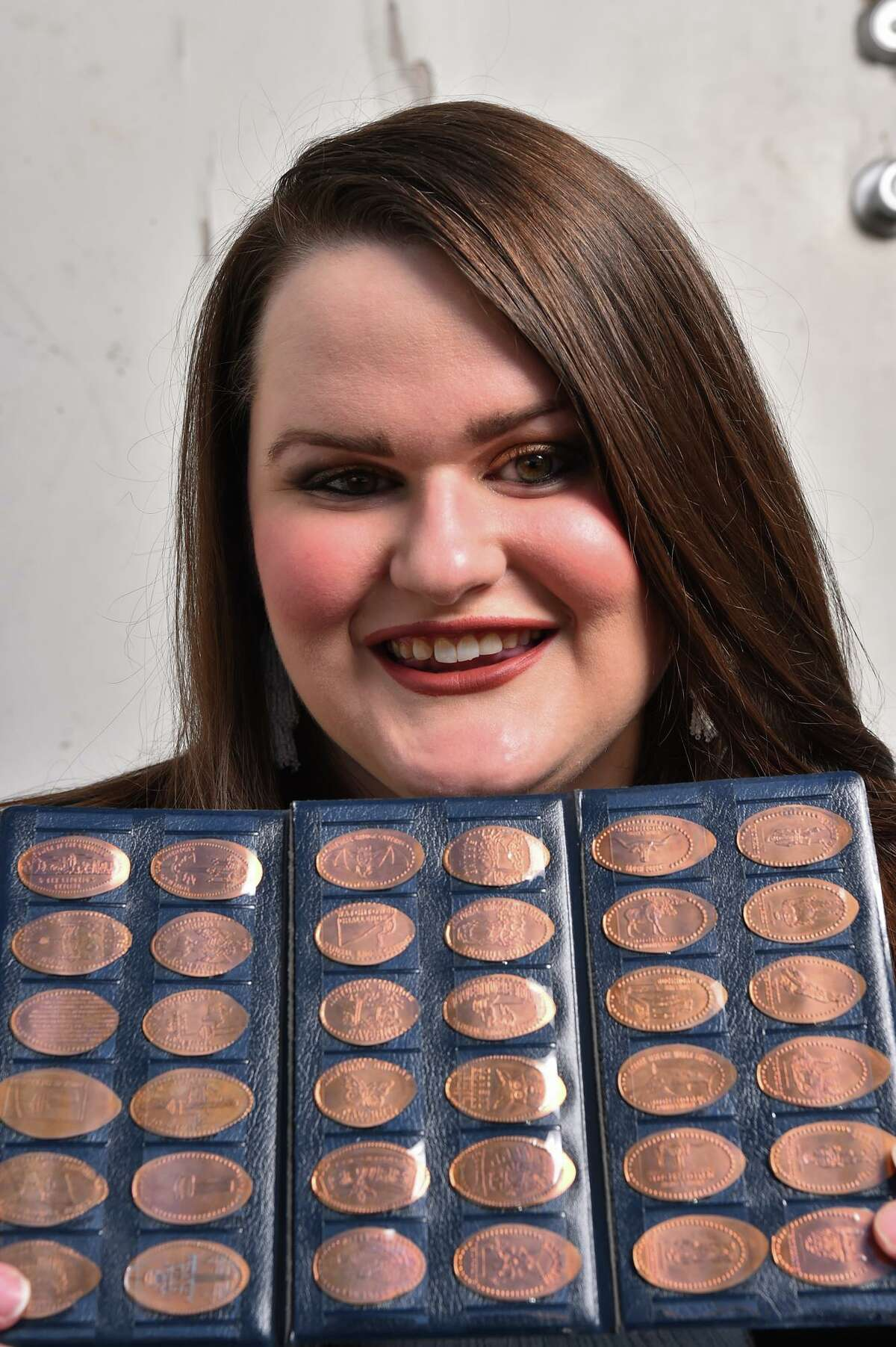 Brandy Gaskins has more than 1,300 stretched pennies from six countries.
