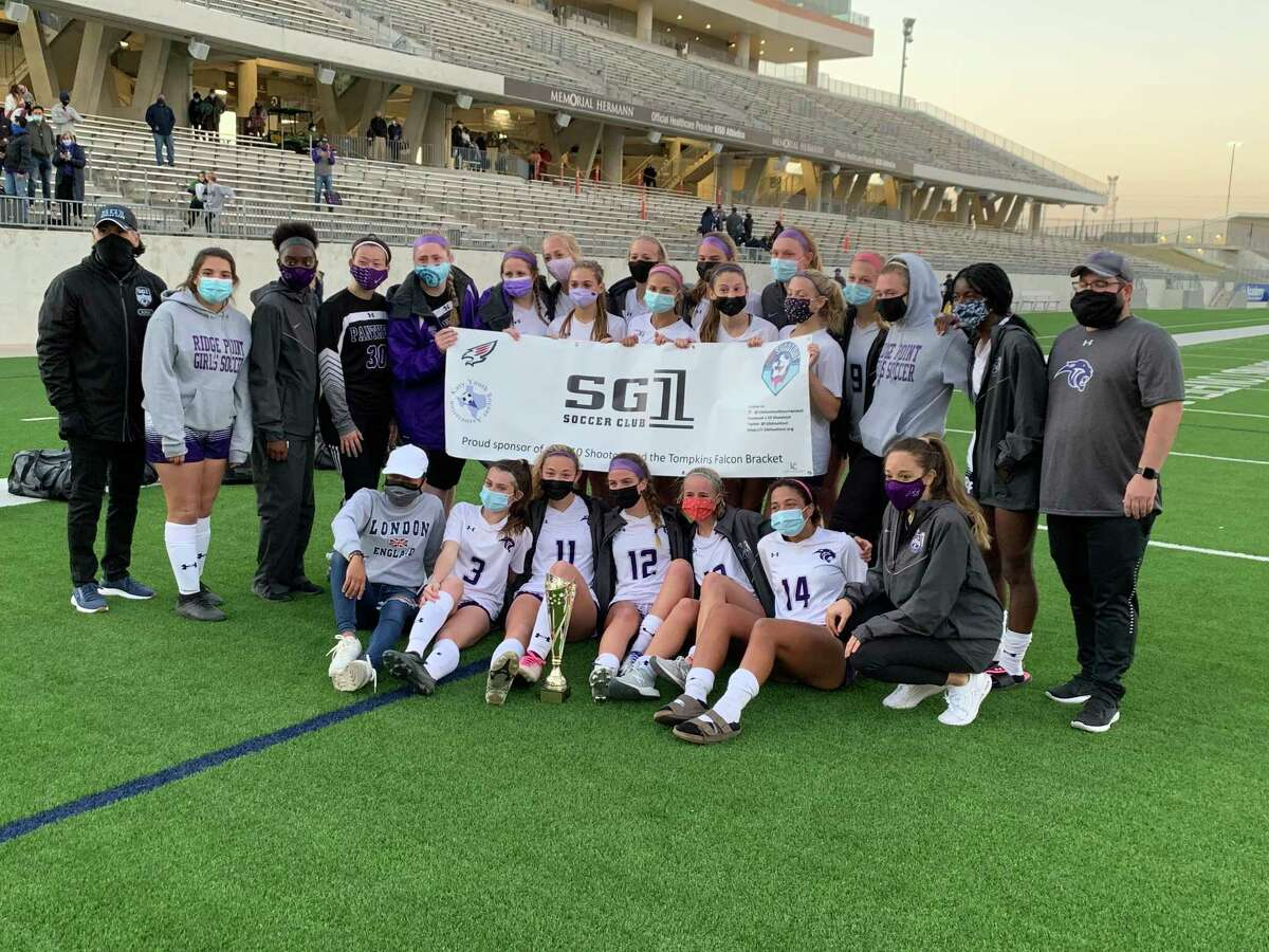 The Ridge Point soccer team won the Falcon Bracket of the I-10 Shootout soccer tournament, defeating Tompkins 3-0 in the final Jan. 16 at Legacy Stadium. The Panthers also defeated Brazoswood 3-0 and The Woodlands 2-0.