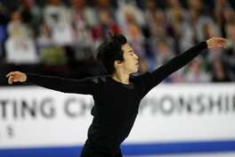 LAS VEGAS, NEVADA - JANUARY 17: Nathan Chen skates in the Men's Free Skate during the U.S. Figure Skating Championships at Orleans Arena on January 17, 2021 in Las Vegas, Nevada. (Photo by Matthew Stockman/Getty Images)