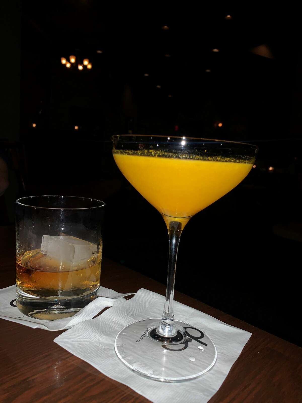 At right, the Dutch Baby cocktail from Albany's dp: An American Brasserie.