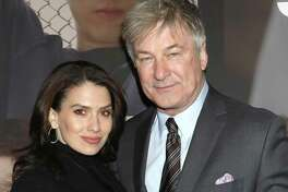 "FILE - In this Feb. 20, 2020 file photo, Hilaria Baldwin, left, and Alec Baldwin attend the Broadway opening night of ""West Side Story"" in New York. Alec Baldwin returns as host of the game show ""Match Game,"" Sunday on ABC. (Photo by Greg Allen/Invision/AP, File)"