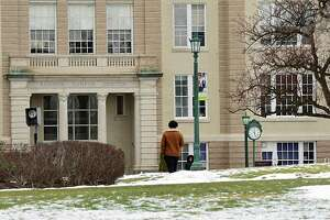 Union College campus on Monday, Jan. 18, 2021 in Schenectady, N.Y. A spike in coronavirus cases at Union College is forcing the college to suspend in-person classes and quarantine students on campus for the next two weeks. (Lori Van Buren/Times Union)