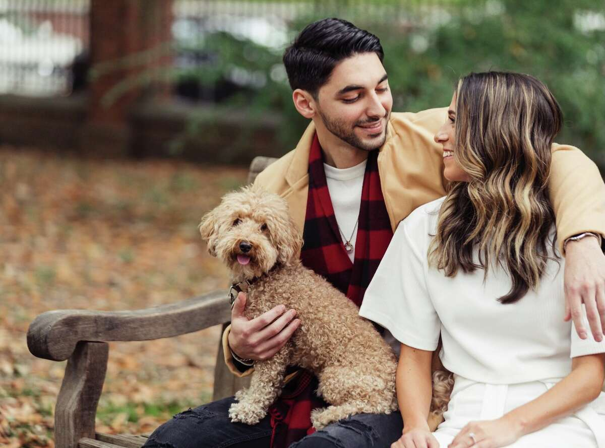 Kaitlyn Loiselle and Ben Silverman set up their engagement shoot with Saratoga Springs-based The Harris Company Photography and Cinema.