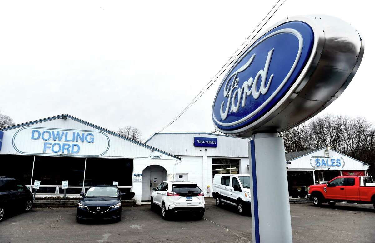 Dowling Ford on South Main Street in Cheshire photographed on January 11, 2021.