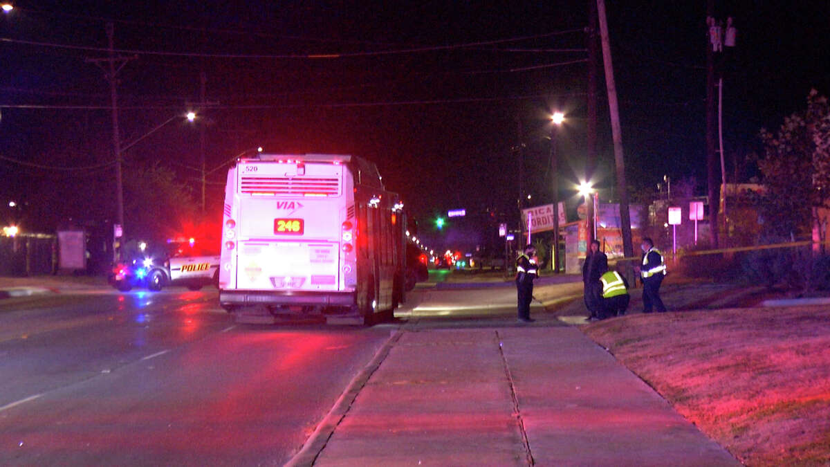 One person was killed late Sunday night after running a stop sign and getting hit by a VIA bus, SAPD said. The accident happened around 11 p.m. near Commercial and Grosvenor Boulevard.