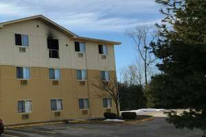 A fire broke out in the Motel 8 at 1 Industrial Park Road early Monday, according to fire officials.