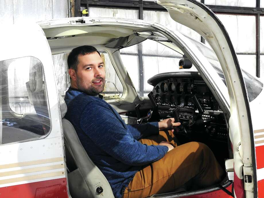 Jacksonville native Alex Helmich is the newest chief flight instructor at Jacksonville Municipal Airport. Photo: Elizabeth Jones | Journal-Courier