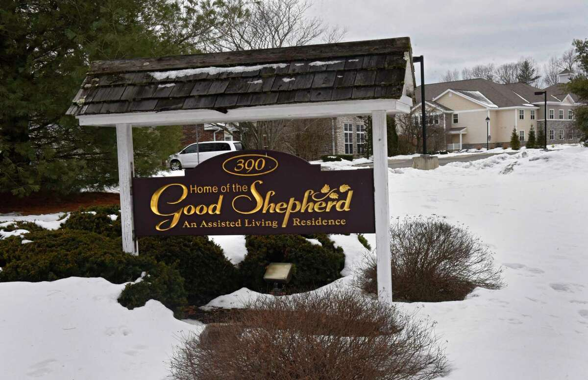 Exterior of Home of the Good Shepherd memory care facility on Monday, Jan. 18, 2021 in Saratoga Springs, N.Y. Dozens of COVID-19 cases have been reported to be among residents and staff since the beginning of the year. (Lori Van Buren/Times Union)