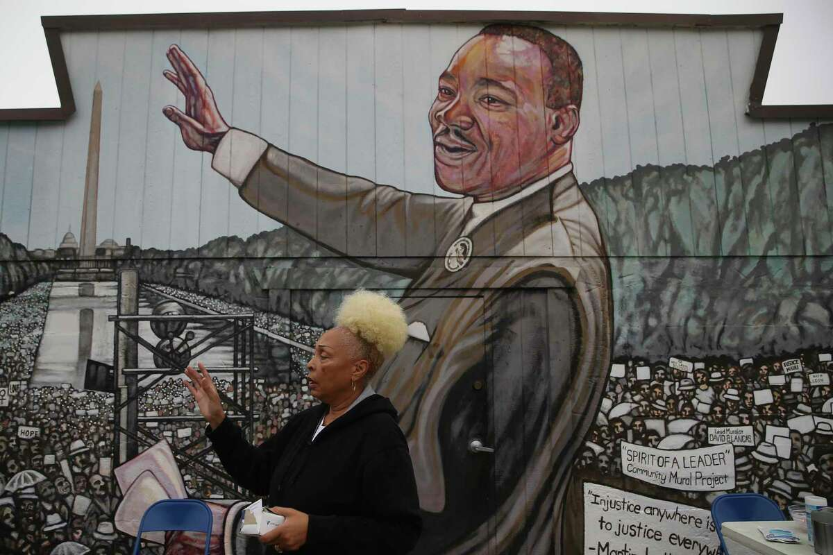 Pastor Rosa L. Wilson prepares for a noon service outside Greater Faith Institutional Church by Martin Luther King Jr. Park. A reader takes inspiration about his word for all living beings. Another wonders how they apply to former President Donald Trump.