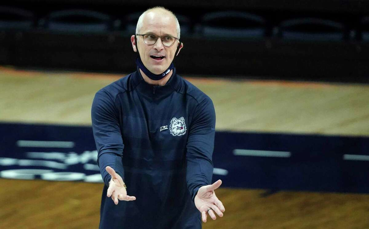 UConn head coach Dan Hurley says injured guard James Bouknight will be a game-time decision for Wednesday's at Providence.