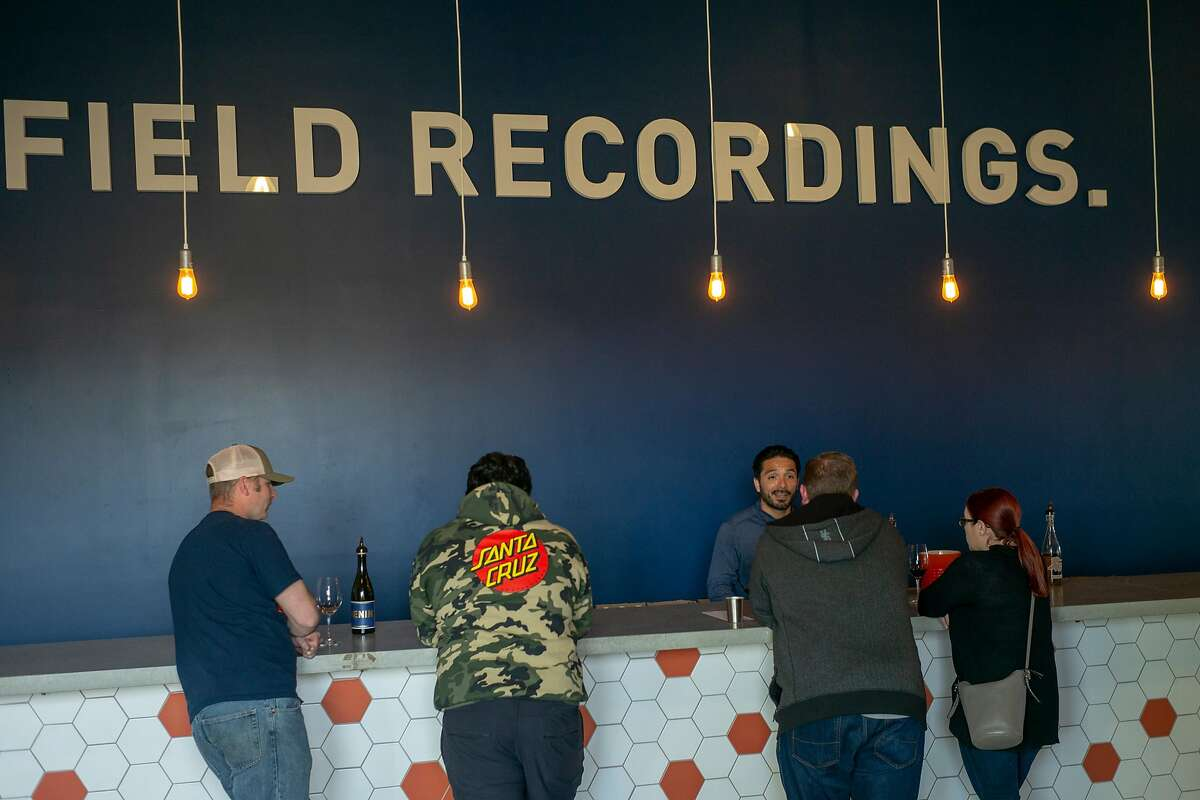 The Field Recordings tasting room - seen in the pre-pandemic times of 2019 - is located in the Tin City complex in Paso Robles.