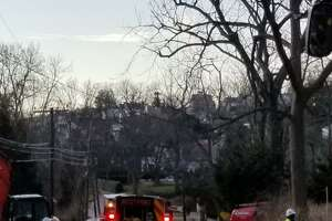 Westport firefighters respond to a gas leak at Hillspoint Road on Jan. 18 around 9:22 a.m.