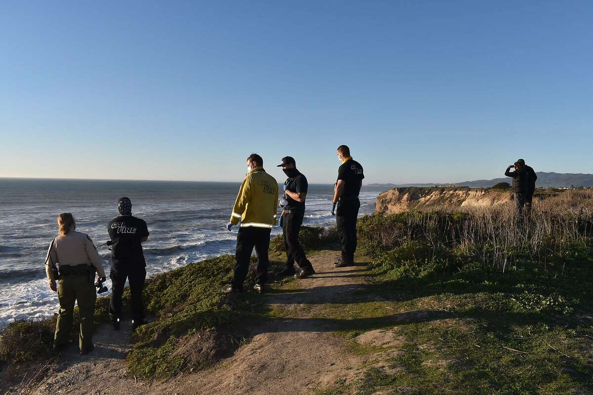 Rescue crews searched Cowell Ranch State Beach for a missing 12-year old boy swept into the ocean by a strong wave on Monday, January 18, 2021.