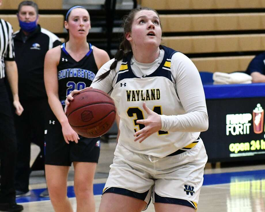 Senior Kaylee Edgemon has established herself as one of the best players in the country in her expanded role for the No. 3 Wayland Baptist Flying Queens. Photo: Nathan Giese/Planview Herald