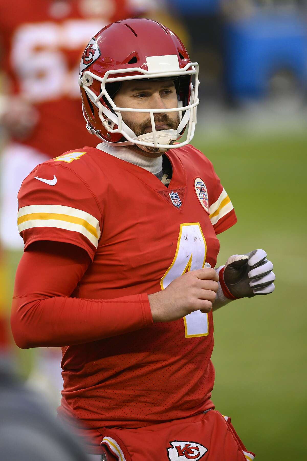 Chad Henne, 35, will make his first playoff start if K.C. QB Patrick Mahomes can't go.