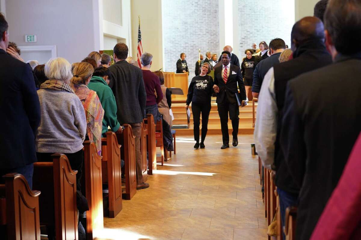 FILE PHOTO: The United Methodist Church on South Avenue in New Canaan was filled with people last year celebrating the life and legacy of the Dr. Martin Luther King, Jr. on Monday, Jan. 20, 2020.