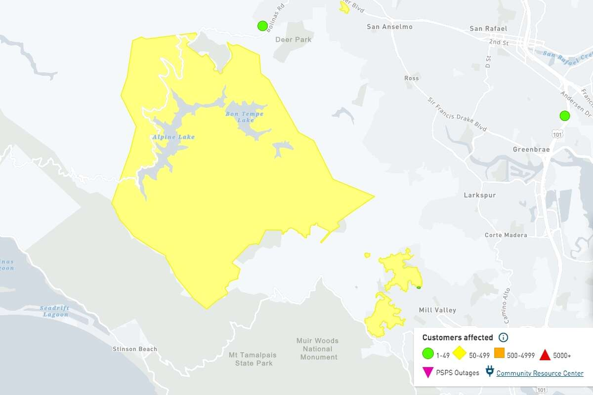 Strong winds cut power in the San Francisco Bay Area on January 19, 2021.  You can find the latest map of failures on the PG&E website.