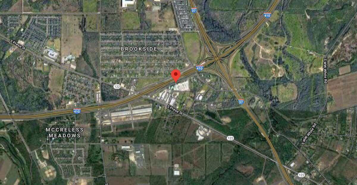 One man is dead after a motorcycle race ended in a crash Loop 410 on the Southeast Side, San Antonio police said. The map shows the approximate location of the incident.