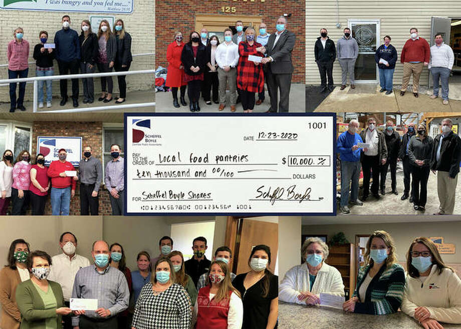 Scheffel employees donate $10,000 Photo: For The Intelligencer
