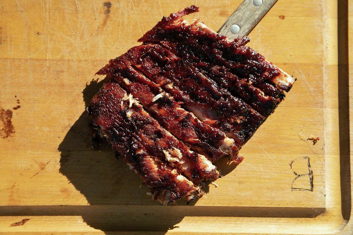 Big Red Smoked Pork Spare Ribs