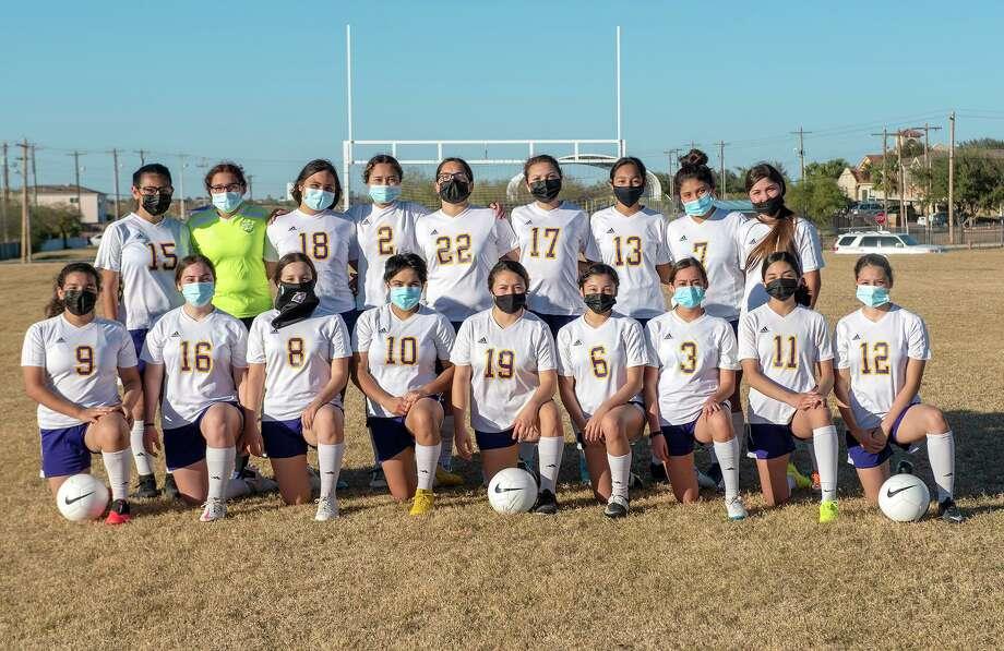 The LBJ girls' soccer team is averaging 12 goals per game early in the 2021 season. Photo: Danny Zaragoza /Laredo Morning Times