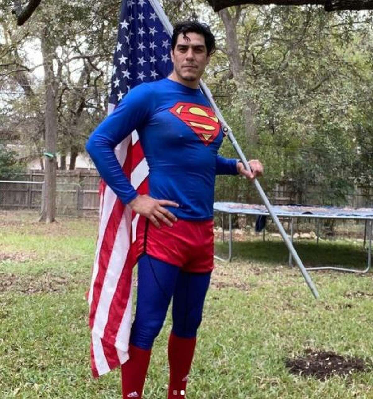 If you've missed the local man who runs in a Superman outfit, Wednesday might be the last time to catch him for a while.