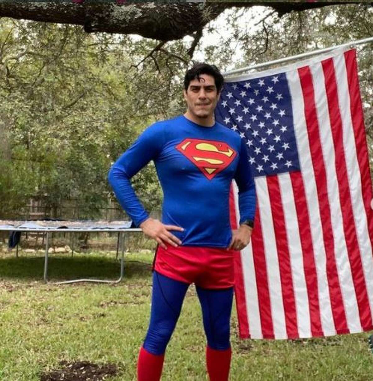 David Alcantar, 42, plans on performing his final Superman run at 11 a.m. starting at Artpace (445 N. Main Ave.) on President-elect Joe Biden's Inauguration Day.