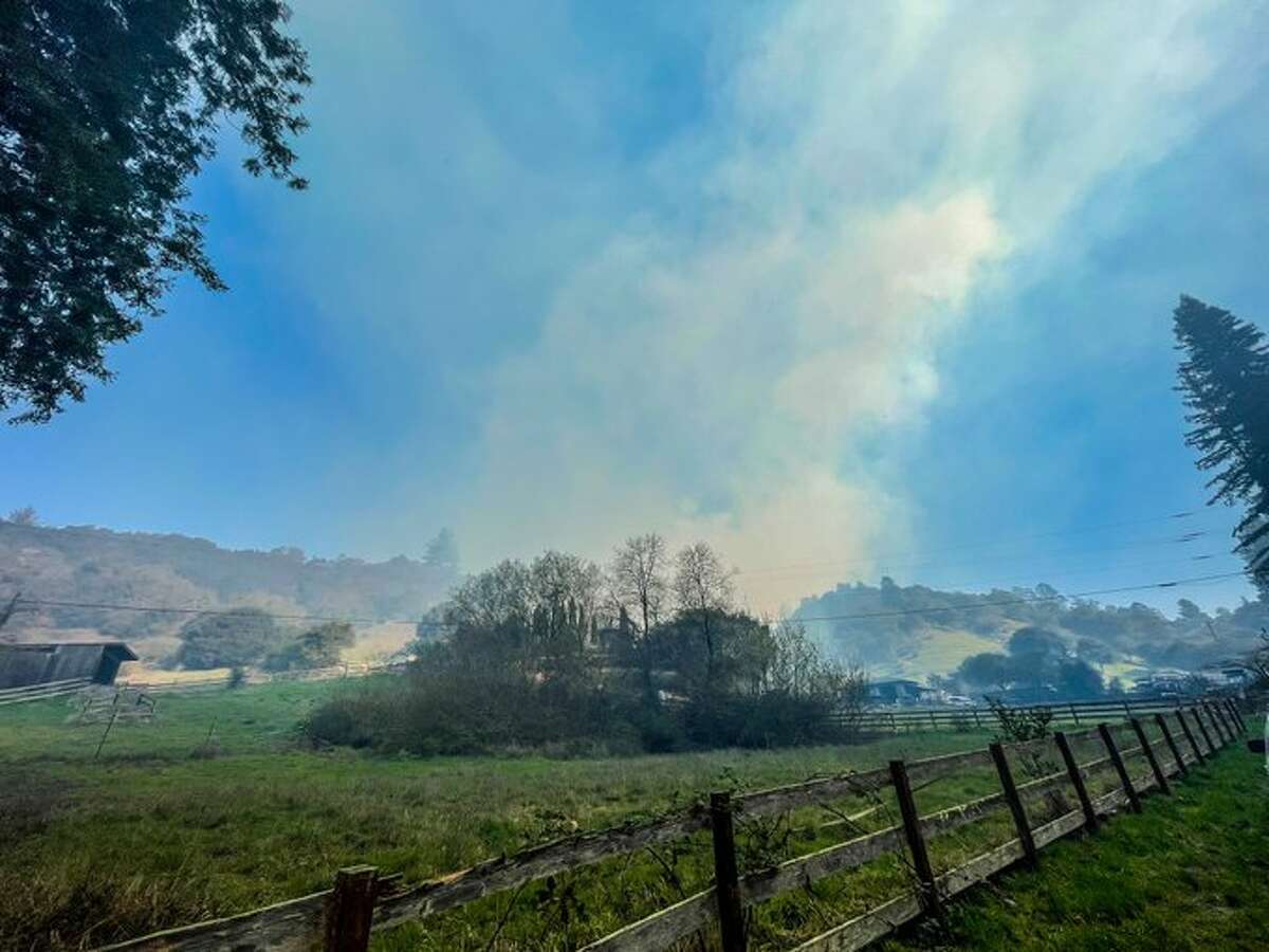 The Nunes Fire has closed White Road at Freedom and Larkin Valley on Jan. 19, 2021.
