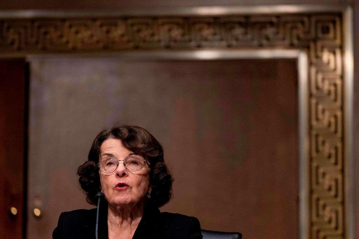 Sen. Dianne Feinstein, D-Calif., speaks during the hearing for Janet Yellen, President-elect Joe Bidens nominee for treasury secretary, on Tuesday.