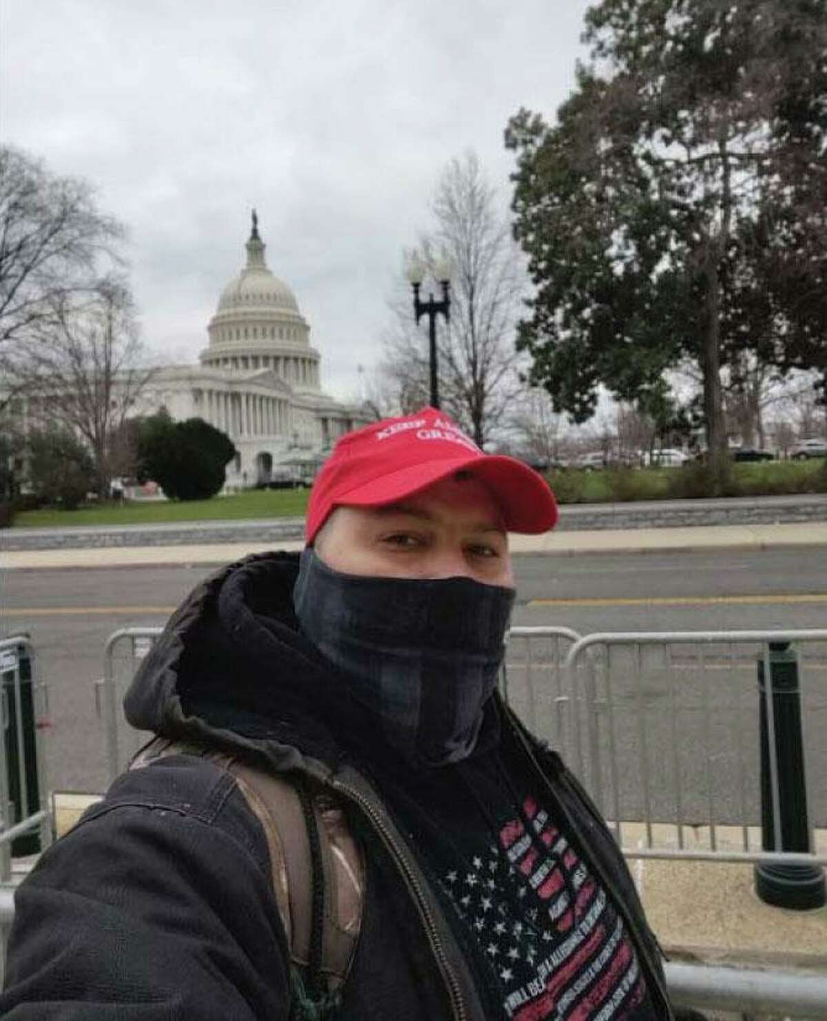 Authorities have charged Joshua Lollar, 39, in the Wednesday, Jan. 6, 2021 insurrection at the U.S. Capitol. FBI officials say he traveled from Texas and participated in the riot, appearing to be on the