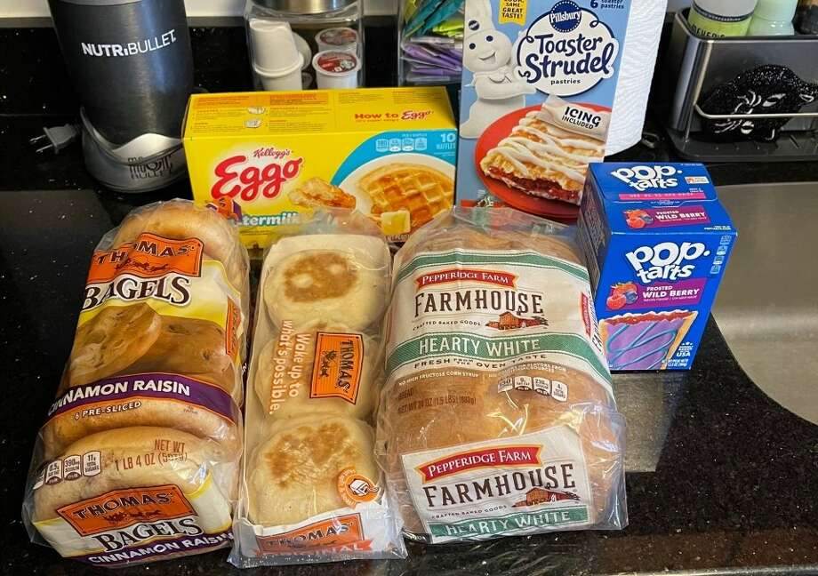 To porperly test the Revolution toaster, I bought bagels, English muffins, bread, Pop-Tarts, toaster strudels, and waffles Photo: Ana Suarez For Hearst Newspapers