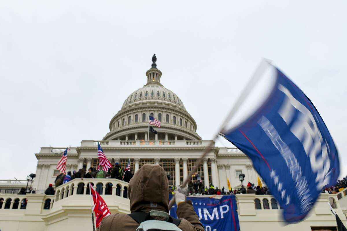 A mob of former President Donald Trump's supporters stormed the Capitol building in Washington, Jan. 6, 2021.
