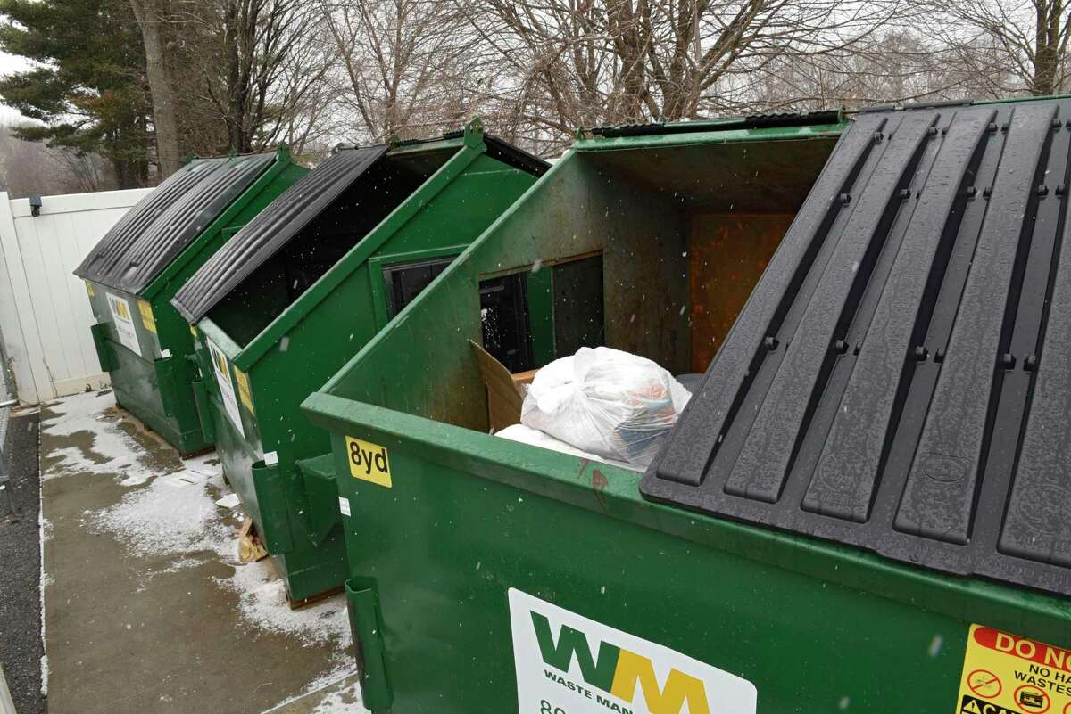 Dumpsters at the Springs luxury apartments on Tuesday, Jan. 19, 2021 in Saratoga Springs, N.Y. (Lori Van Buren/Times Union)