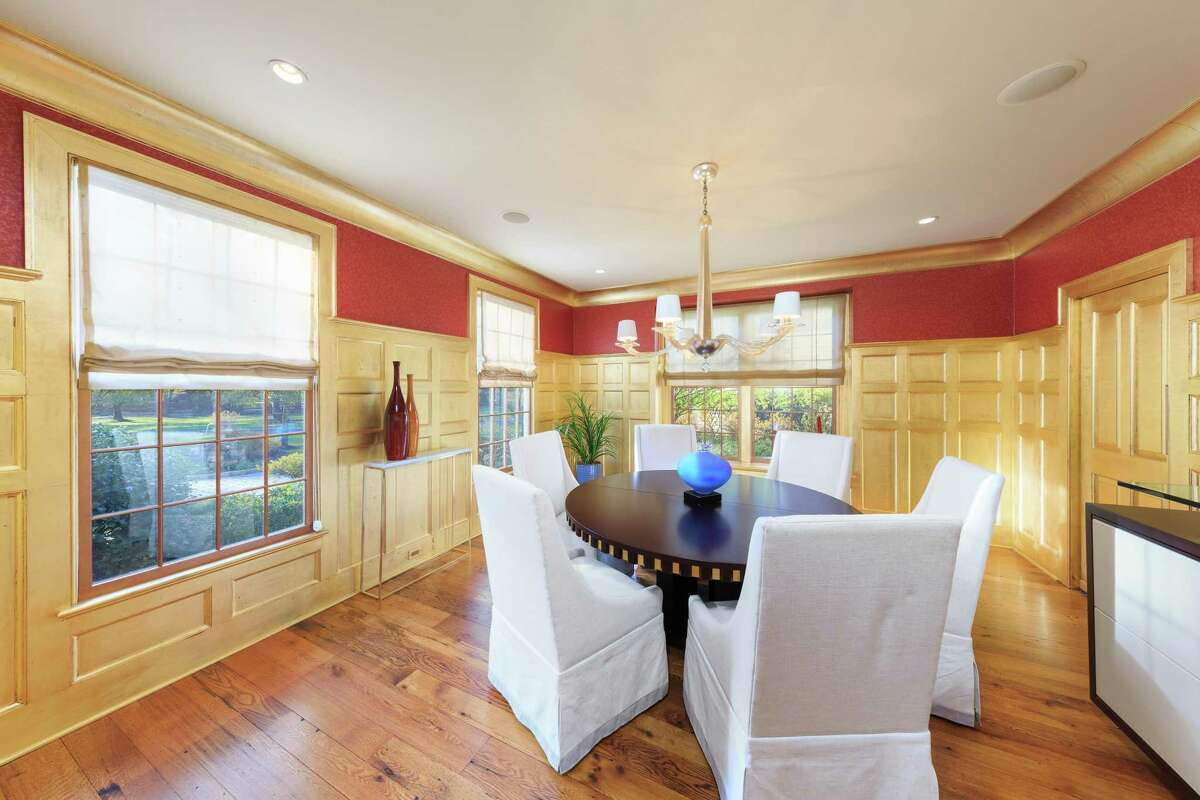 Formal dining room at 29 West Branch Road, Weston.