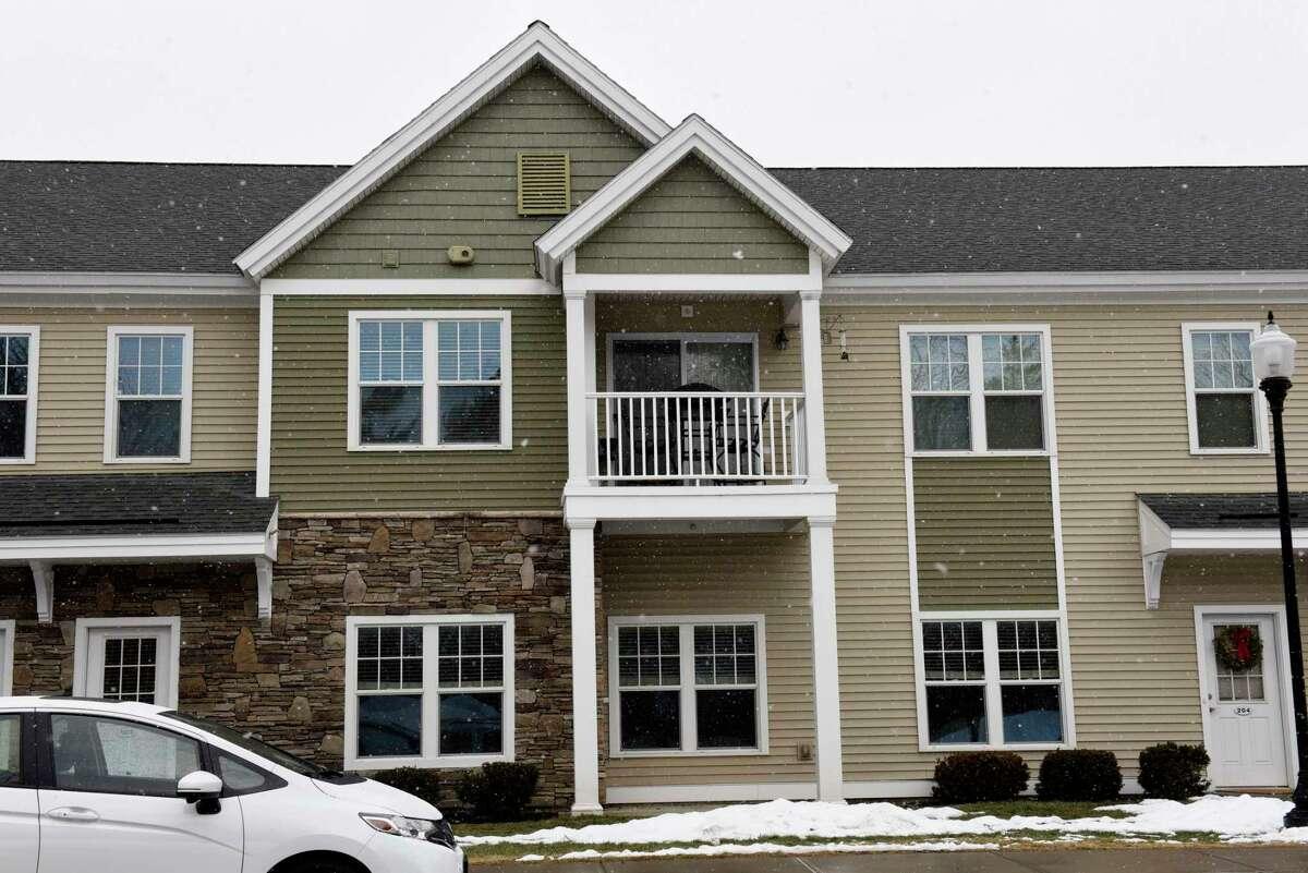 Exterior of the Springs luxury apartments on Tuesday, Jan. 19, 2021 in Saratoga Springs, N.Y. (Lori Van Buren/Times Union)