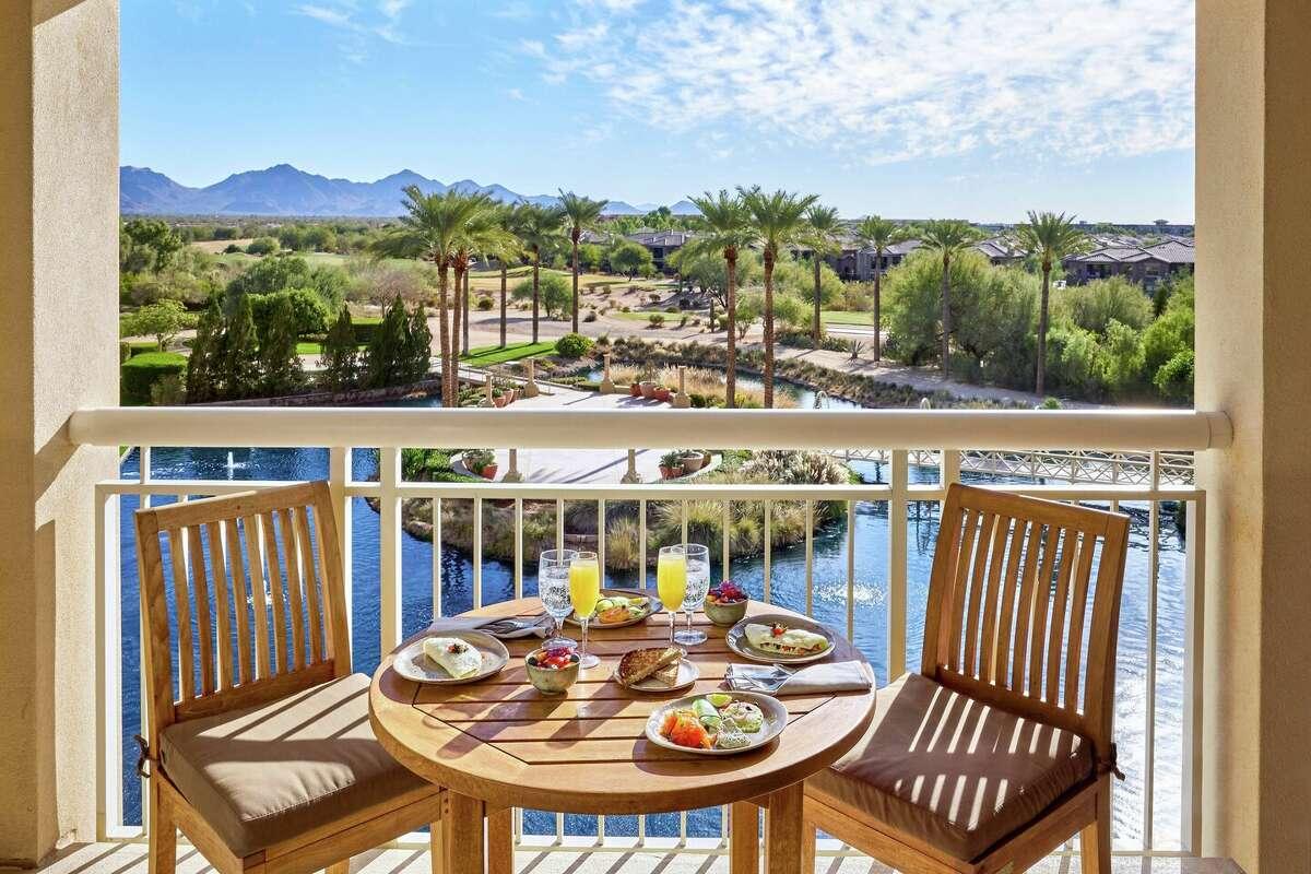 JW Marriott Desert Ridge Resort and Spa balcony over resort