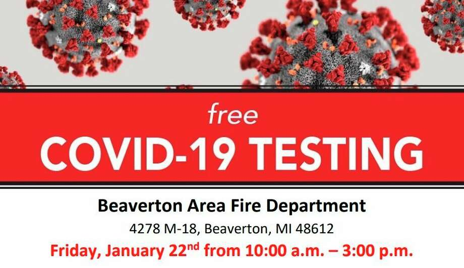 Free COVID-19 testing will be available in Gladwin County on Friday, Jan. 22. (Screen photo)