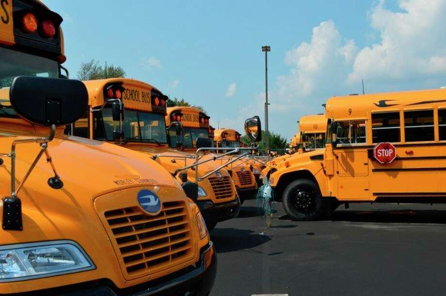 At its regular meeting Monday, the Morley Stanwood Community Schools Board of Education discussed its ongoing bus driver shortage. The district is considering incentives as a way to bring on additional drivers. (Pioneer file photo)