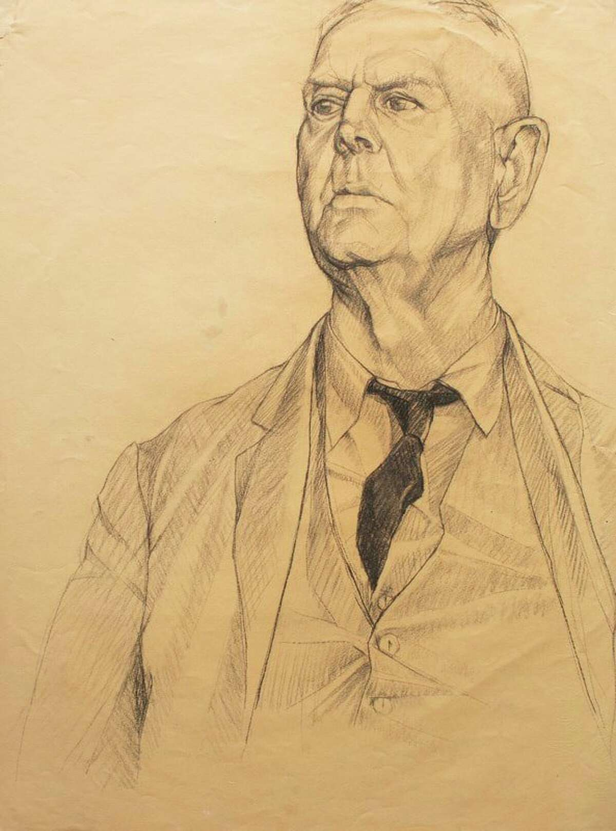 This was the original condition a figure study sketch by Marshall M. Fredericks was in before being conserved. (Photo provided/Marshal M. Fredericks Sculpture Museum archive)