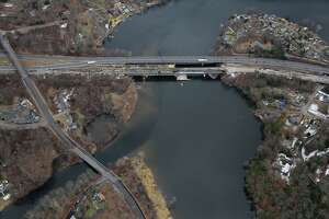 The Rochambeau Bridge between Newtown and Southbury, which carries I-84 over the Housatonic River, is undergoing a renovation by the state Department of Transportation.