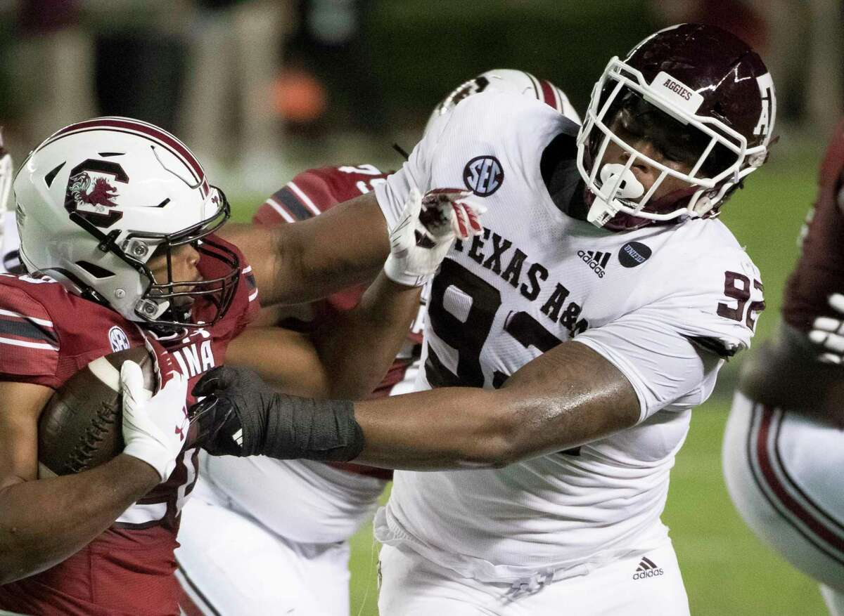 Defensive tackle Jayden Peevy is among the Texas A&M players taking advantage of an extra year of eligibility granted because of the coronavirus pandemic.