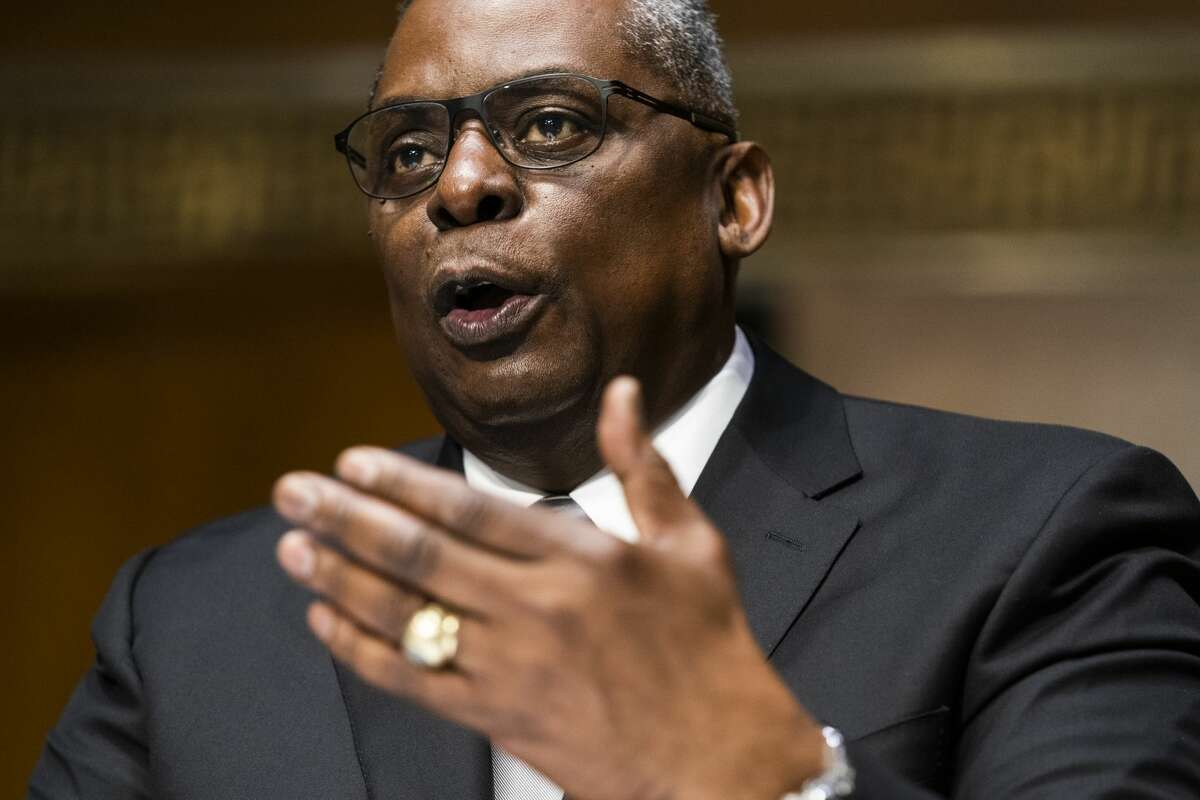 WASHINGTON, DC - JANUARY 19: U.S. Army (retired) General Lloyd Austin testifies before the Senate Armed Services Committee during his conformation hearing to be the next Secretary of Defense on January 19, 2021 in Washington, DC. Austin is the first African-American to have headed U.S. Central Command. (Photo by Jim Lo Scalzo-Pool/Getty Images)