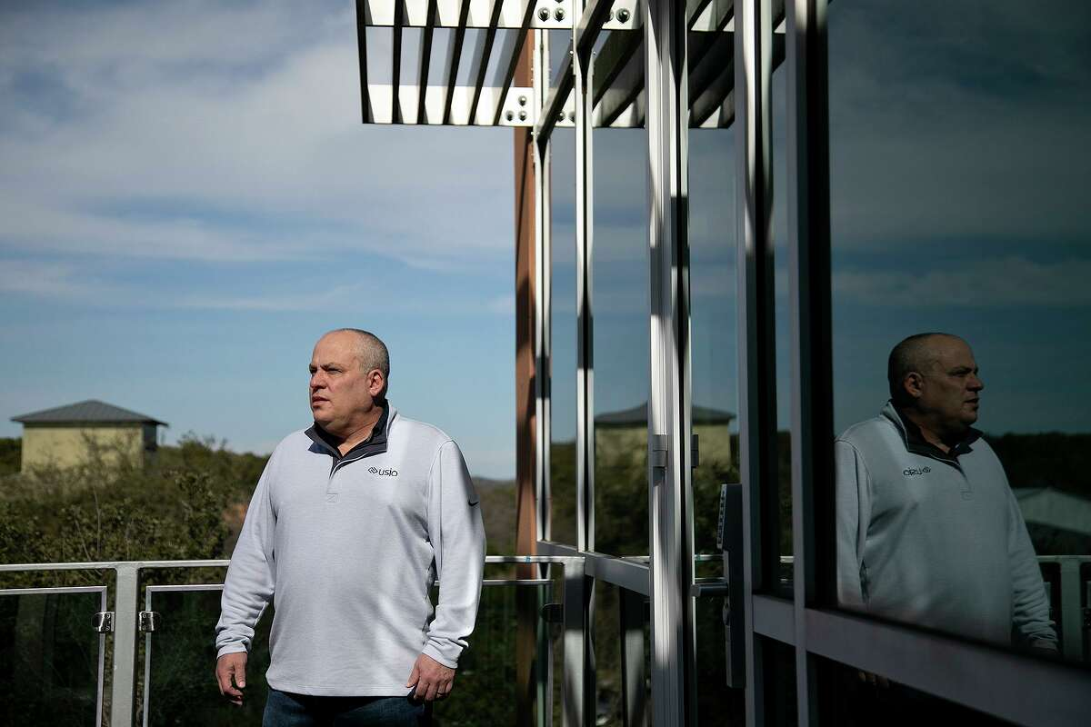 San Antonio payment processor Usio Inc. obtained an $813,500 Paycheck Protection Program loan last year. CEO and President Louis Hoch stands on the deck outside his corporate office.