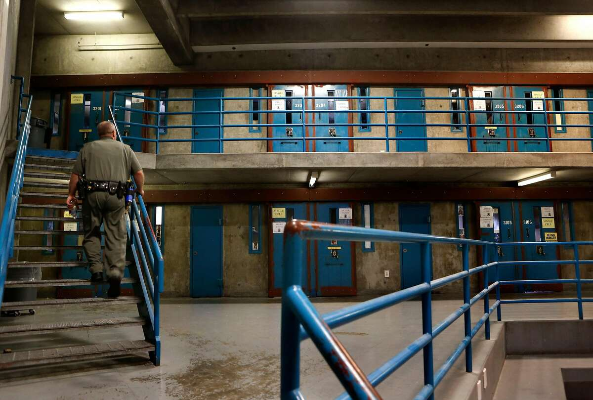 Security housing unit B at the California State Prison-Sacramento. Prosecutors say a guard lied about the actions of another guard in the death of an inmate they were transferring to another cell.