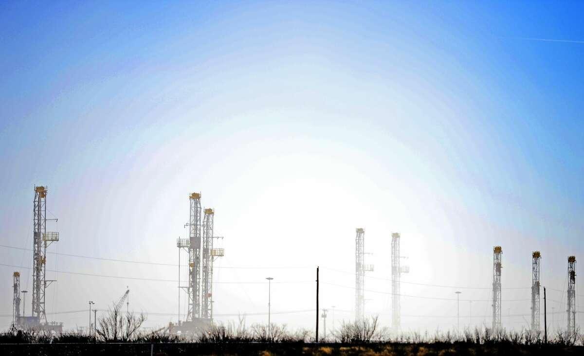 Drilling rigs in Odessa, Texas.