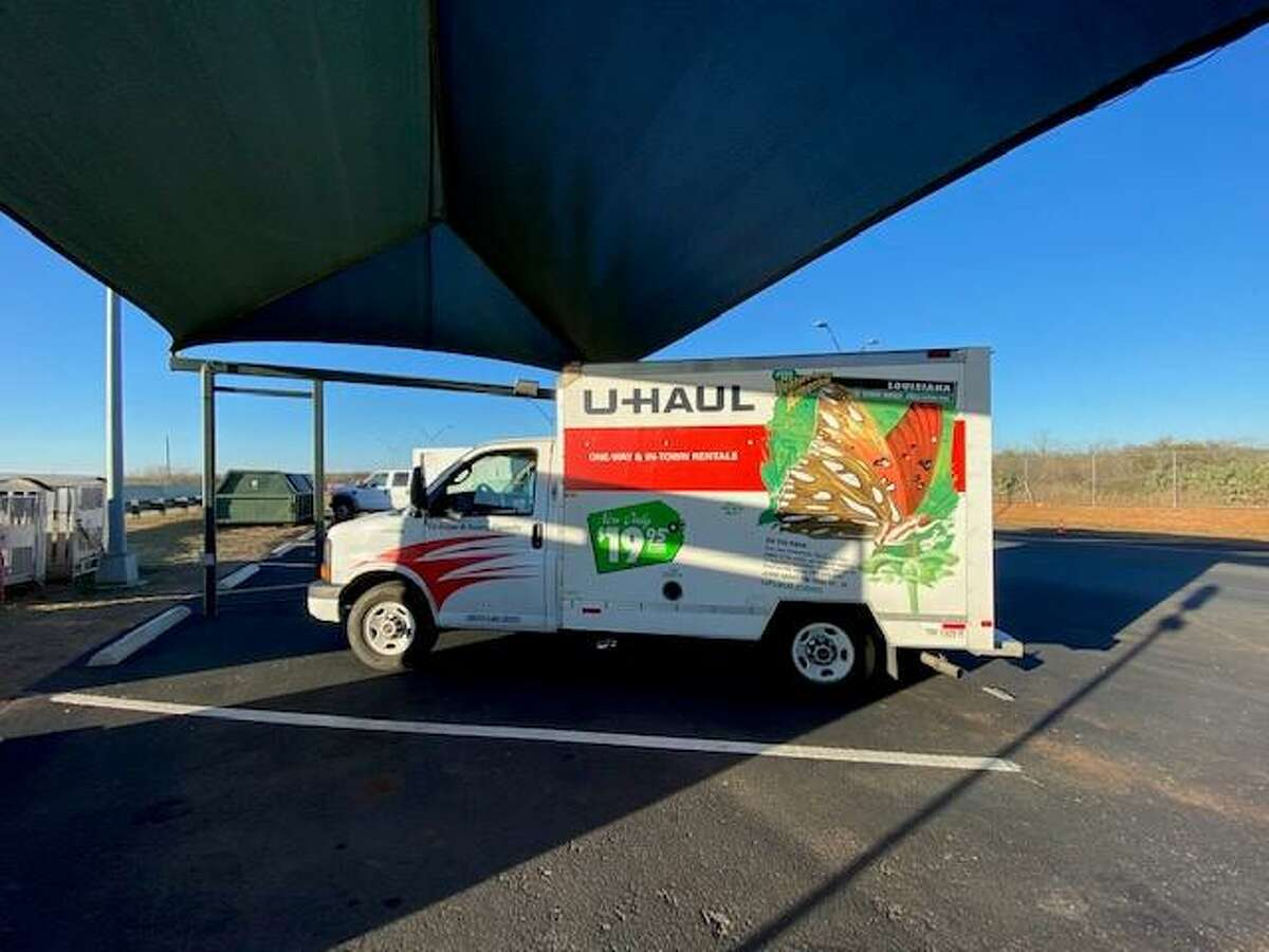 U.S. Border Patrol agents said they discovered six immigrants in the cargo area of this U-Haul.