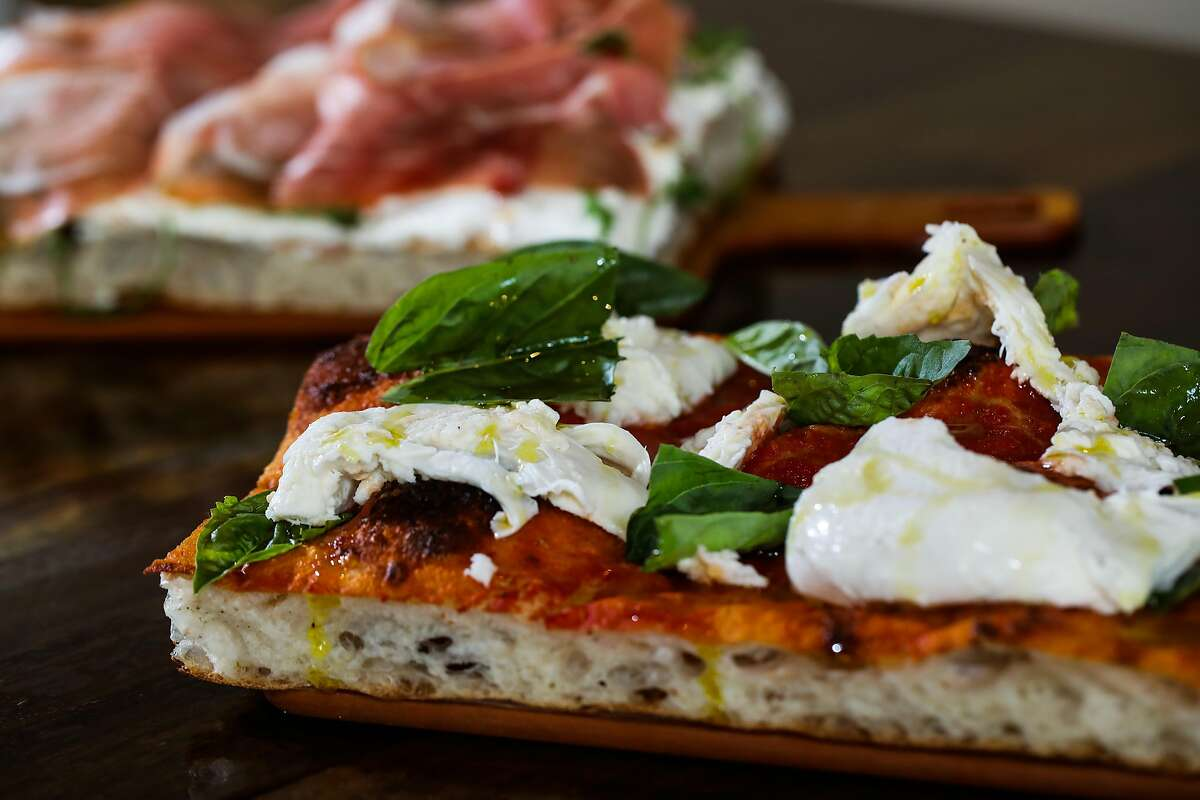 The margherita pizza, at Pollara Pizzeria, includes fresh mozzarella, tomato sauce and basil on Tuesday, January 12, 2021, in Berkeley, Calif. The restaurant is located at 1788 Fourth St.