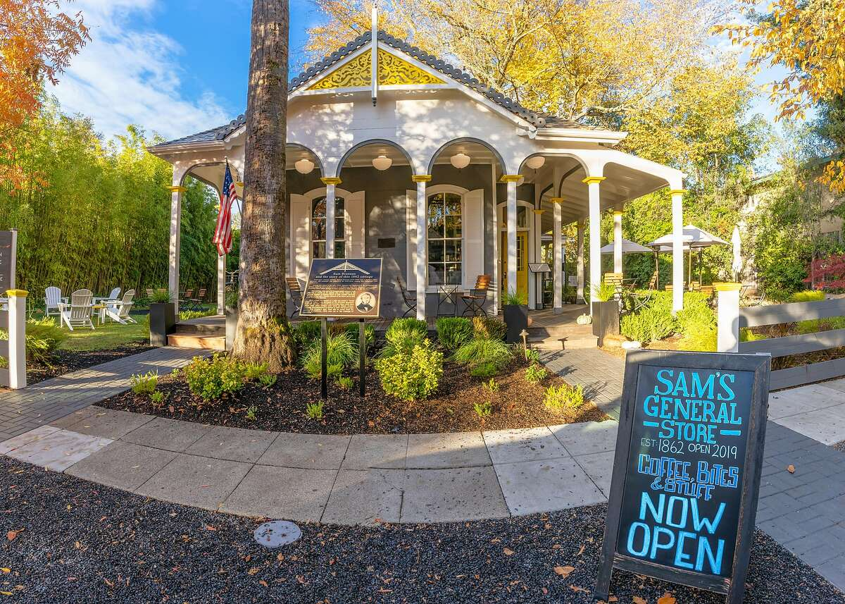 The exterior of Brannan Cottage Inn and Sam's General Store in Calistoga. Both businesses are part of the Wine Country for Safe Reopening Coalition, which has sued Gov. Gavin Newsom.